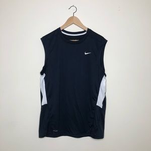 Nike navy blue Dri-Fit work out tank size large